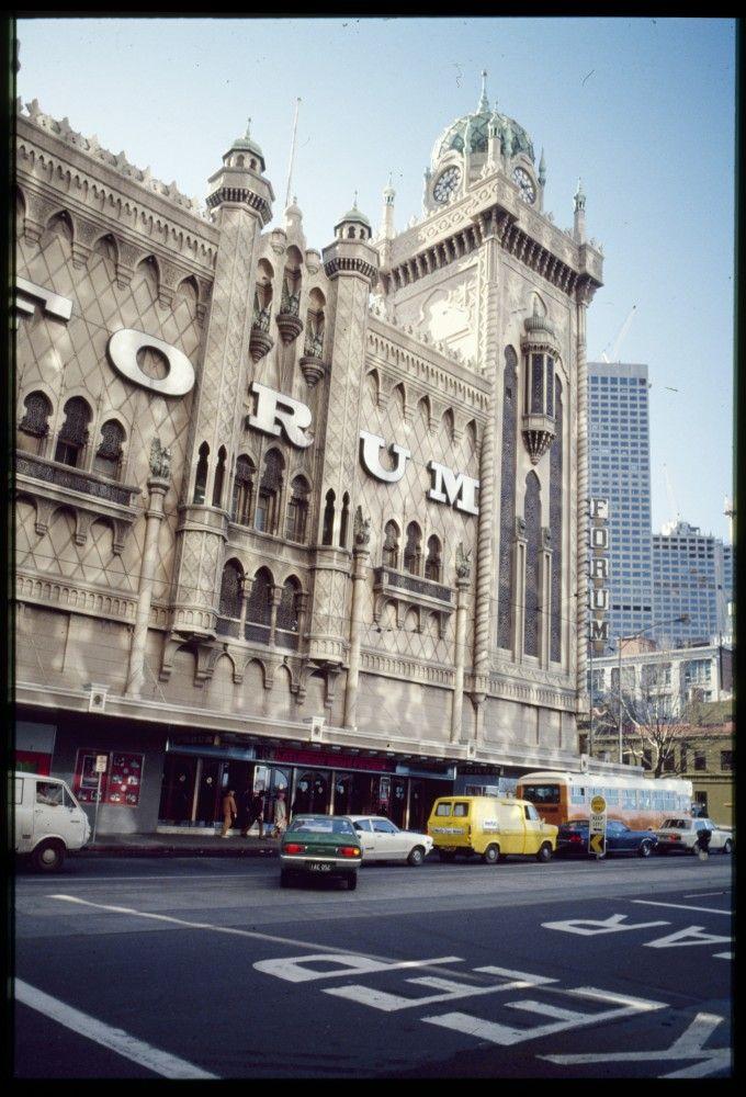 Forum Picture Theatre circa 1980 Melbourne Australia. Have seen some great gigs here :)