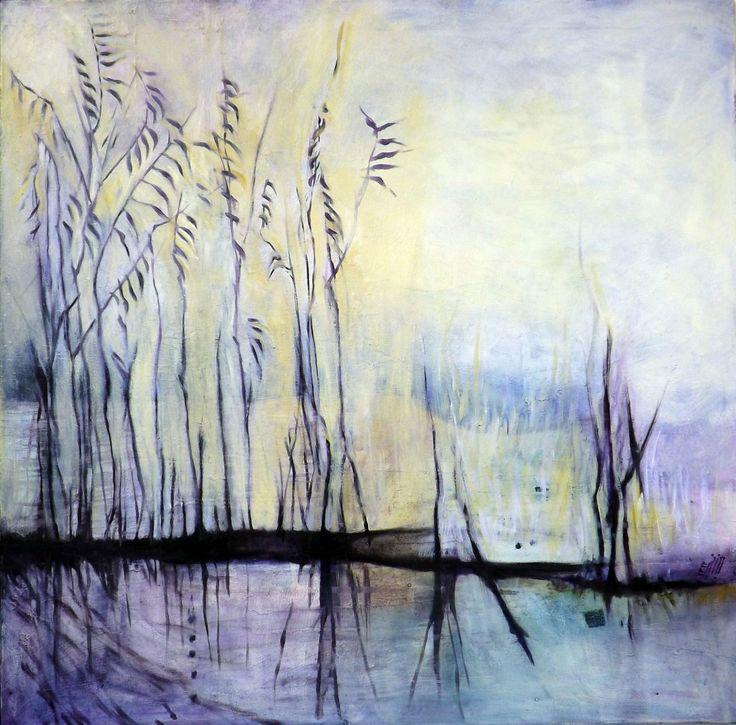 """""""Spighe V"""" Oil on canvas - 90x90 cm"""