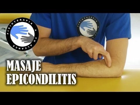Masaje para epicondilitis o codo de tenista, como autotratar tu lesión.