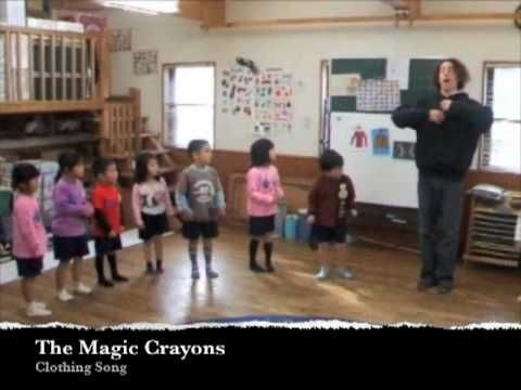 Clothing Song for Children. English Kindergarten Songs by The Magic Crayons. Lyrics and free games and lesson plans on their website at http://www.themagiccrayons.com