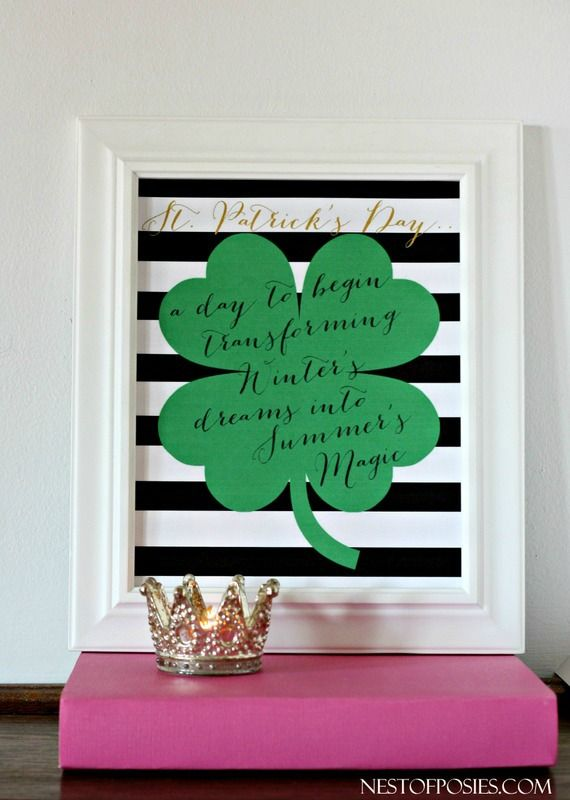 St. Patrick's Day Quote Printable from @Nest of Posies  FREE Printable Blog Hop with 8 total bloggers.