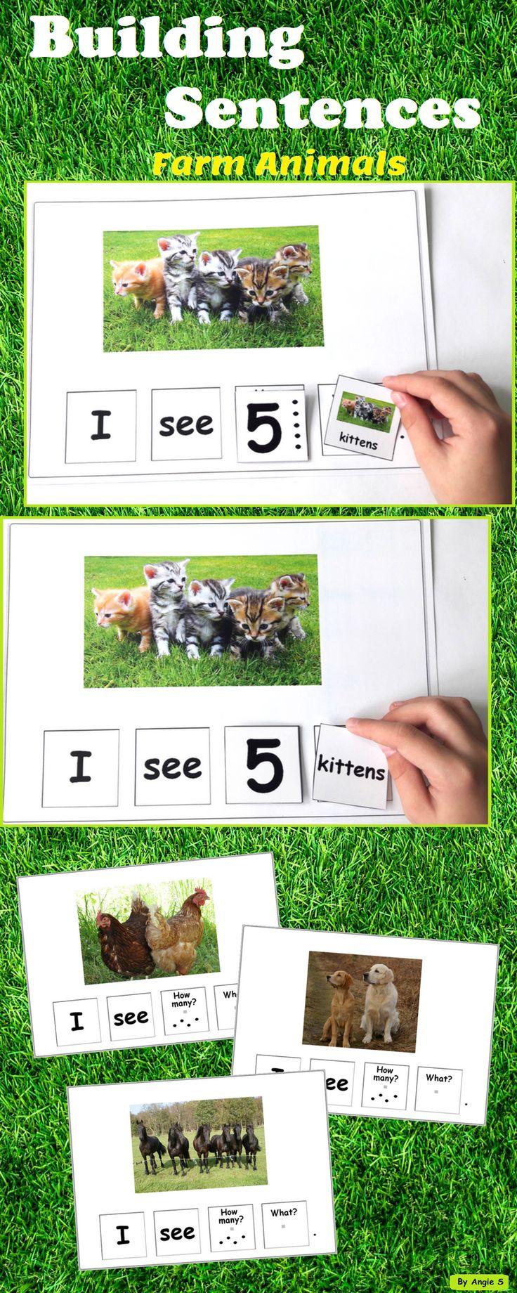 Farm Animals Activity – Building Sentences