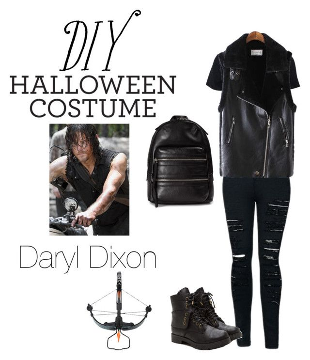 """DIY Halloween Costume - Daryl Dixon"" by mat-beades ❤ liked on Polyvore featuring Chicnova Fashion, Marc Jacobs, halloweencostume and DIYHalloween"