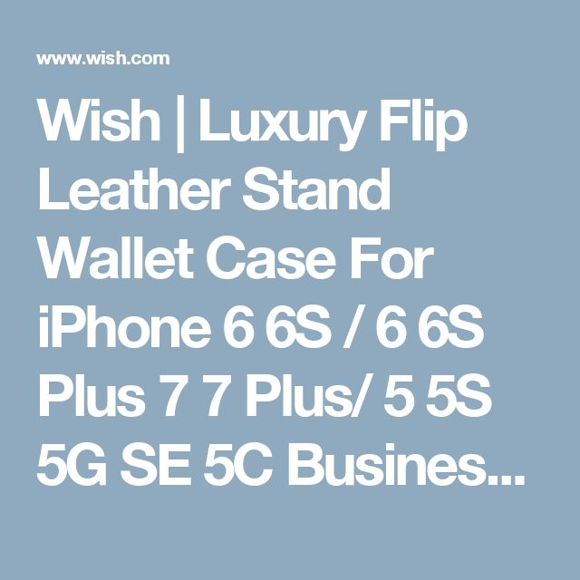 Wish | Luxury Flip Leather Stand Wallet Case For iPhone 6 6S / 6 6S Plus 7 7 Plus/ 5 5S 5G SE 5C Business Card Slots + Photo Frame Phone Cover For Samsung Galaxy S8 S8 Plus S7 / S7 Edge / S5 / S6 / S6 Edge / S6 Edge Plus / Note 5