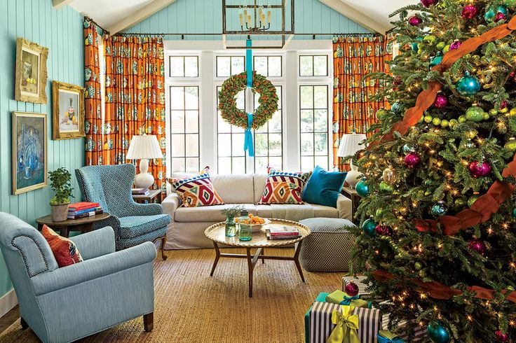 Returning to the house where she grew up—for good—was the best holiday present of all for Birmingham resident Betsy Goldstein. Betsy Goldstein and her husband Trey bought her childhood home when her parents decided to sell and transformed it into the perfect mix of old and new elements. The Goldstein's asked Fran Keenan, neighbor and interiordecorator,to reinvent the space with vibrant colors and lively patterns, and, boy, did this space come alive when complemented with bright Christmas…