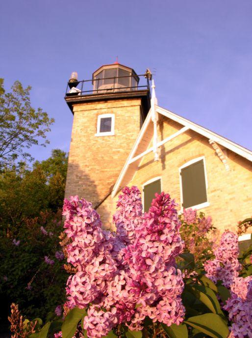 Eagle Bluff Lighthouse - Springtime