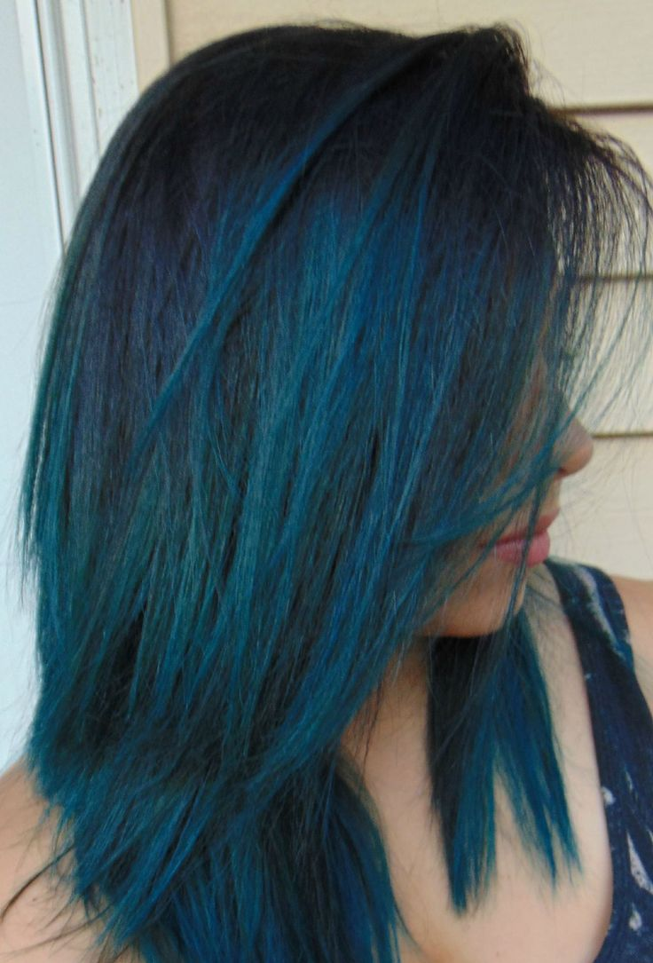 Black Balayage to Cobalt Blue by Pravana! Did this on myself! COME LEARN MORE ABOUT MY WORK HERE! http://www.youtube.com/sameethehairstylist http://www.instagram.com/sameeschaapstyling