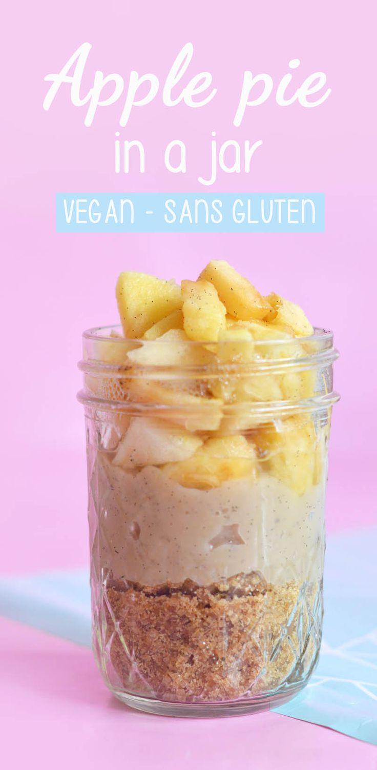 Apple pie in a jar : une tarte aux pommes dans un mason jar à emporter pour le déjeuner ou le goûter (vegan et sans gluten) www.sweetandsour.fr