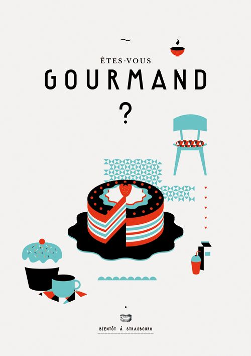 French illustration. It asks, are you a gourmet? (No, but I do like to sample as long as there is no meat.)