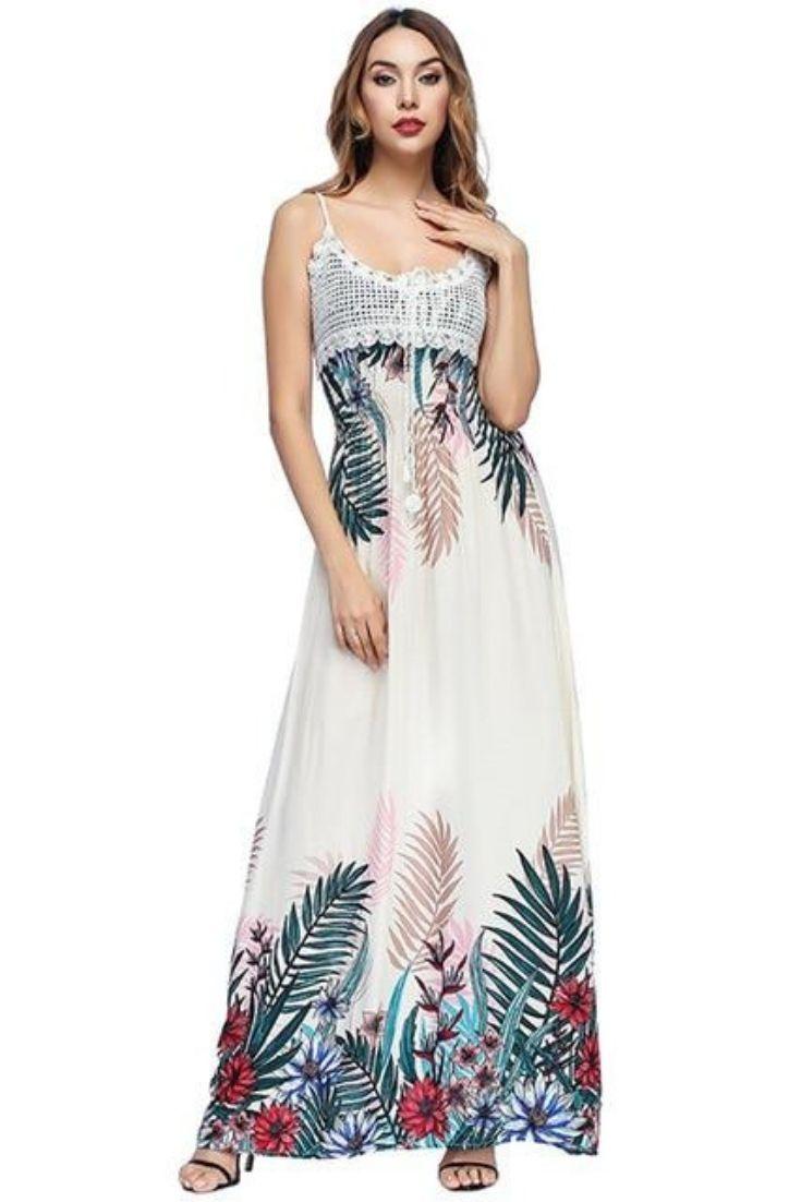 Floral Print Strapless Maxi Beach Dress Beach Maxi Dress Dress Sleeve Styles Dresses [ 1102 x 735 Pixel ]