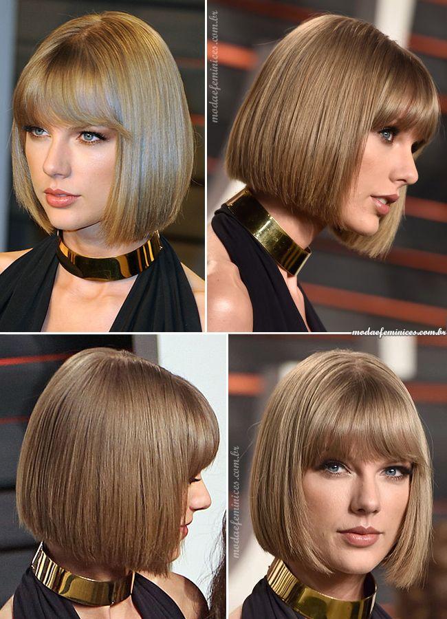 Corte de cabelo chanel bob – Hair Taylor Swift inspira o look | Short Hair,  short haircuts  Short Hairstyles, Haircuts for 2017 http://modaefeminices.com.br/2017/02/03/corte-de-cabelo-chanel-bob-taylor-swift-inspira-o-look/
