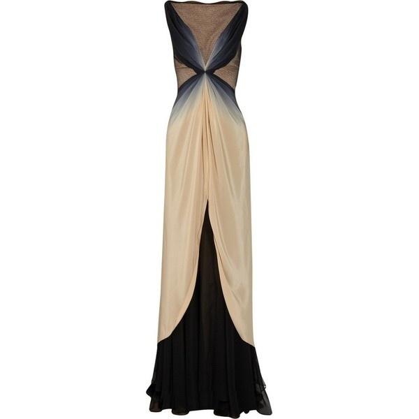 Alberta Ferretti dark purple tulle sleeveless sequin and bead... ❤ liked on Polyvore