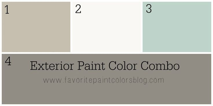 Exterior Paint Color Combinations {What Color to Paint the Outside ...