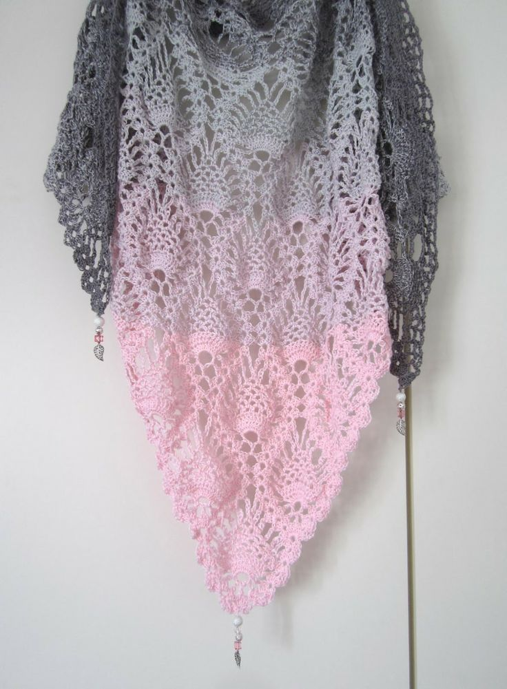 188 Best Dreieckstücher Images On Pinterest Knitting Stitches