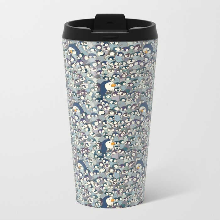 Buy Baby Penguin Pattern Metal Travel Mug by strijkdesign. Worldwide shipping available at Society6.com. Just one of millions of high quality products available.