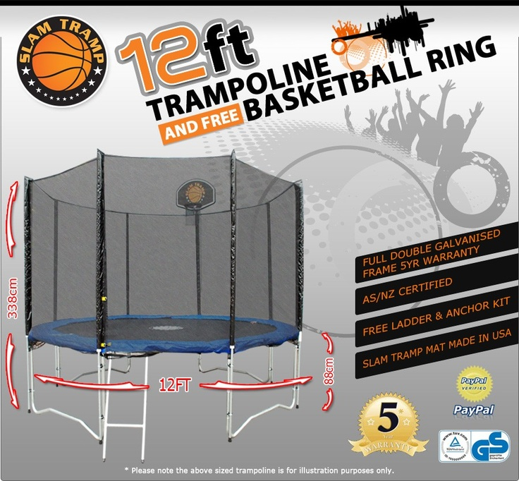33 best images about home backyard trampoline ideas on for A frame ladder safety tips