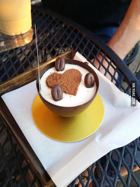 Tiramisu in a chocolate teacup from White Windmill Bakery. My mom couldn't bring herself to eat the cup