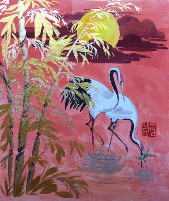 Cranes Frog-fishing