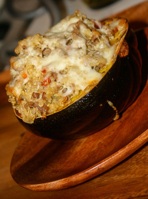Quinoa Stuffed Acorn Squash | What's For Dinner? | Pinterest