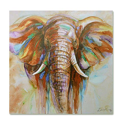 raybre art x cm impresin sobre lienzo cuadro cartoon animals elefante colores abstractos modernos