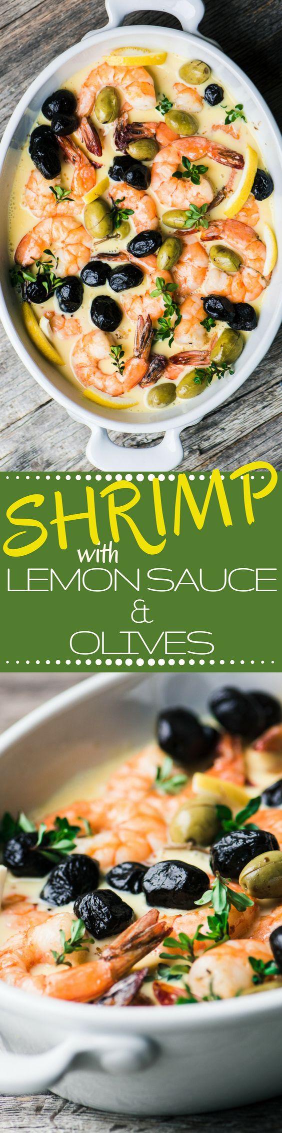 Garnalen in Lemon Sauce met olijven ~ deze 30 minuten maaltijd zal je mee naar de Griekse eilanden met zijn zijdezachte citroensaus en rijke, zilte olijven.  De gezondheid van nieuws op de mediterrane dieet blijft maar steeds beter en beter ~ lucky ons!