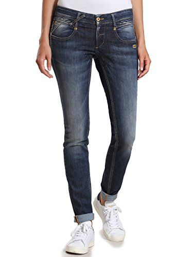 Gang Damen Skinny Jeans NENA-meridien Denim Blau (NO Square Wash 7736) W24 3abcd06b4f