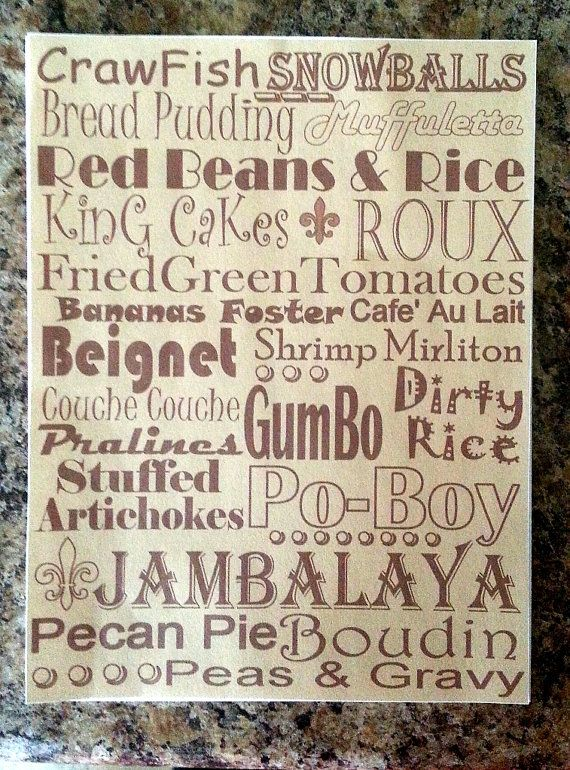 New Orleans Food Tile / I love new orleans Food  by scontrino1970, $16.00