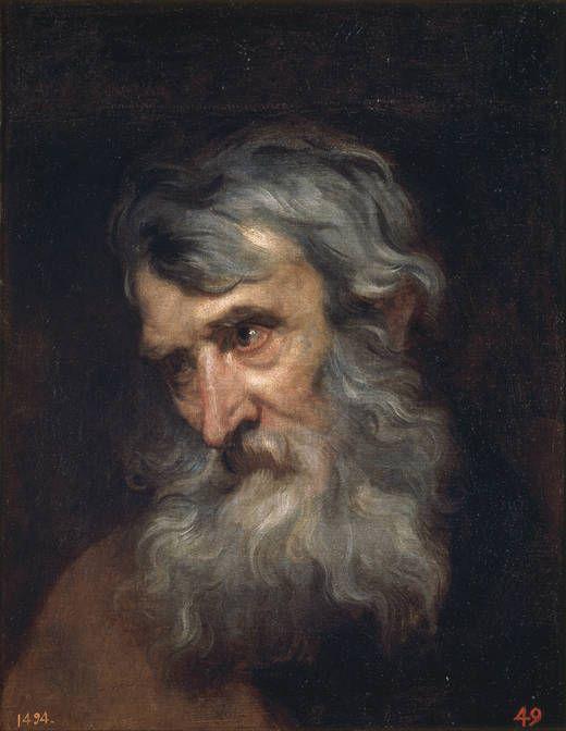 Antonio van Dyck, Cabeza de anciano. Museo del Prado
