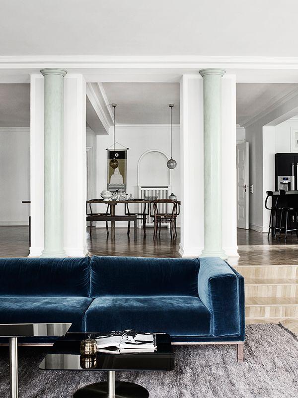 Le canapé en velours, star de nos intérieurs, quelque soit le style