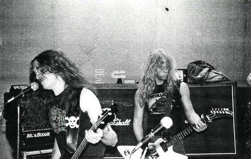 "the-young-metal-attack: ""Cliff Burton & James Hetfield, 1985-1986 """