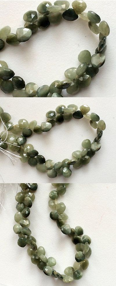 Cats Eye Quartz 69163: 4 Strand 30 Pcs, Cats Eye Stones, Heart Briolettes, Faceted Cats Eye Beads -> BUY IT NOW ONLY: $40.85 on eBay!