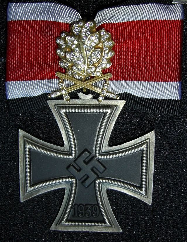 Nazi combat award -Knight's Cross of the Iron Cross with golden Oak Leaves…