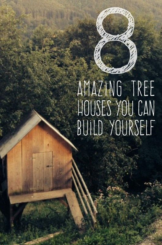 8 Amazing Tree Houses (Hideouts) You Can Build Yourself | You may think that building a tree house is beyond your DIY expertise.  For these families though, where there was a will there was a way. These inspirational hideouts are guaranteed to bring out your inner carpenter…