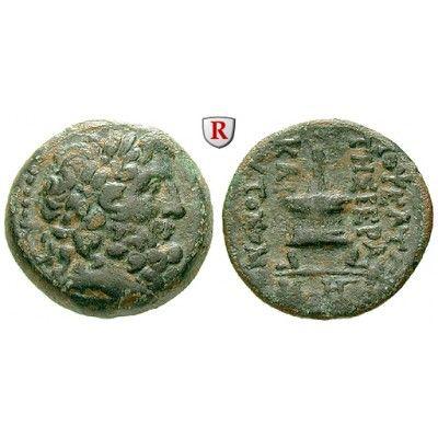 Kilikien, Mopsuestia - Mopsos, Bronze 2.-1. Jh.v.Chr, ss: Bronze 20 mm 2.-1. Jh.v.Chr. Kopf des Zeus r. mit Lorbeerkranz /… #coins