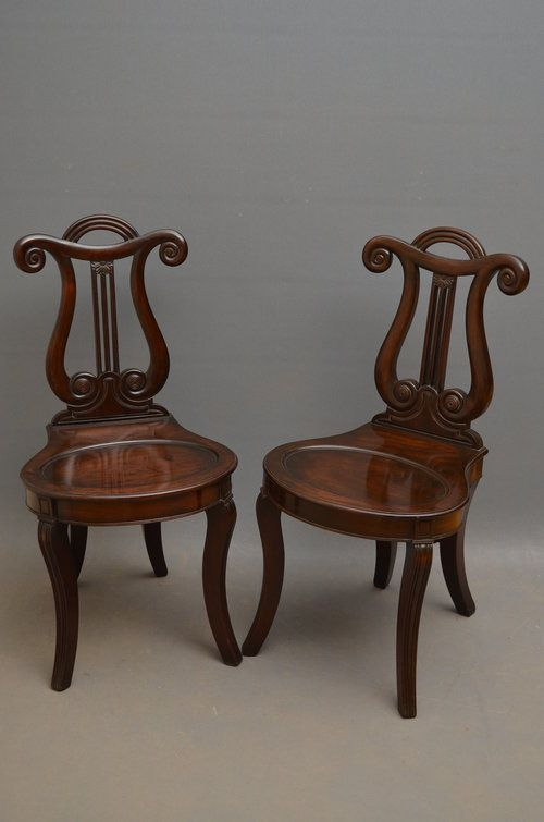 Pair Of William IV Hall Chairs In Mahogany - Antiques Atlas - 58 Best William IV Furniture Images On Pinterest Dates, Shell