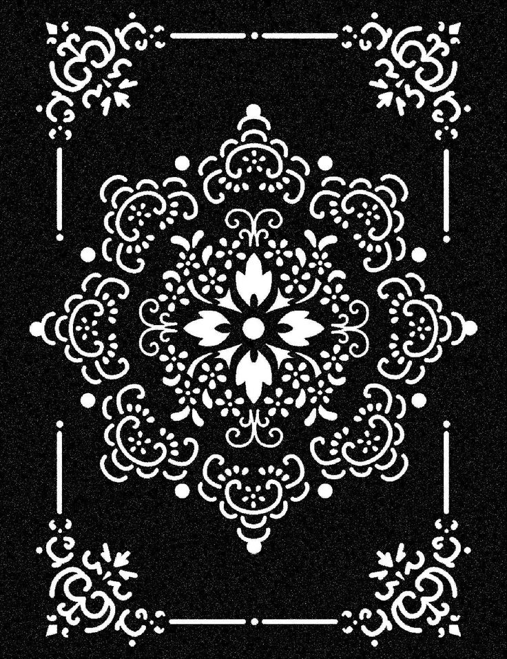 Schablone, Stamperia Ornament