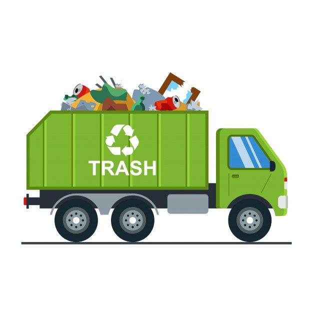 Garbage Truck With Garbage Goes To The Landfill Garbage Truck Toy Car Garbage