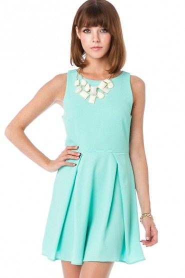 Pinney Dress in Mint