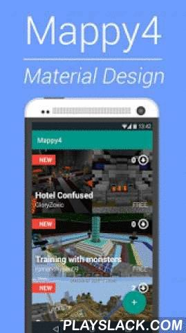 Mappy4 Maps For Minecraft  Android App - playslack.com , Welcome to the Mappy4 world in Material Design. All the Maps for Minecraft PEATTENTION: The latest updates have a lot of changes. Please REINSTALL the app if you find any issue with it. If you download any previews maps it would unnistalled.Download and play new maps never have been this easy!-Faster, Better, Stronger!-Great Maps available!-Amazing UI-New maps every day.-Easy as 1,2,3This is the best Maps App for MCPE! With loads of…