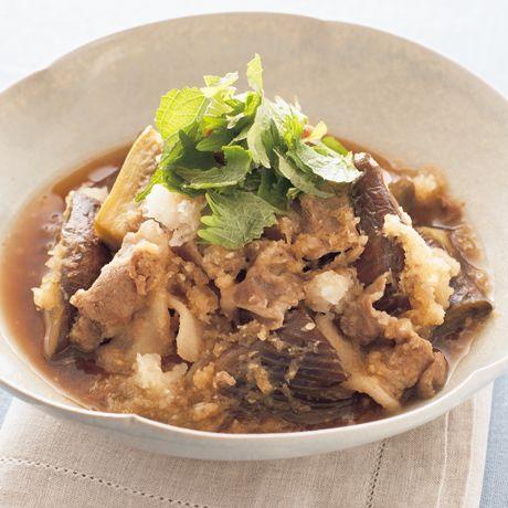 豚となすのおろし煮 | 市瀬悦子さんの煮ものの料理レシピ | プロの簡単料理レシピはレタスクラブニュース