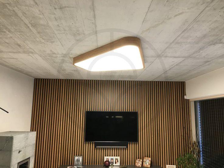 Wood and stone - custom made LED lamp, 2016 - Trilum Lighting