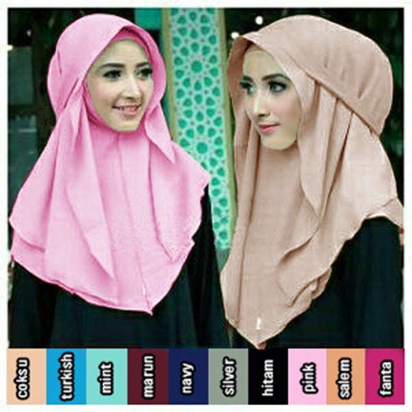 Hijab Pashmina Instan Bella Terbaru 2017 Harga Murah variasi tali belakang, praktis dan cantik, bahan double layer diamond crepe sehingga tidak menerawang