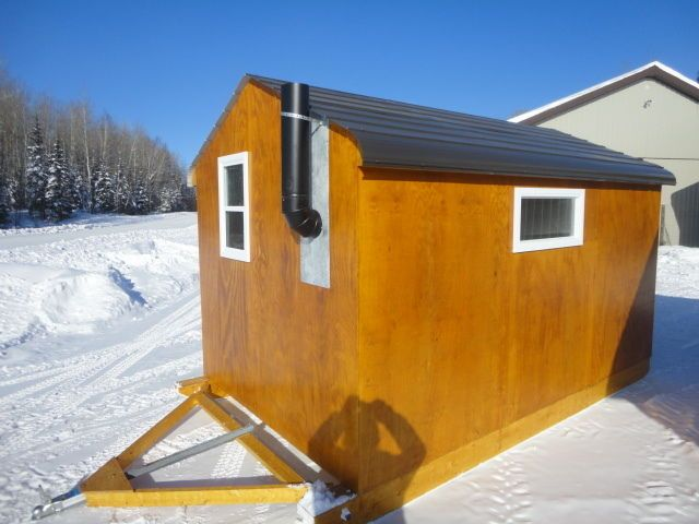 how to build a ice fishing hut