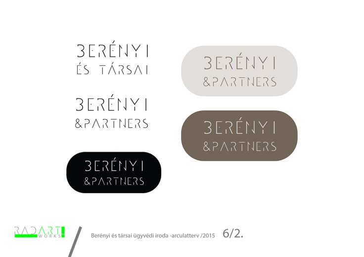 Berényi and Partners law firm logo design