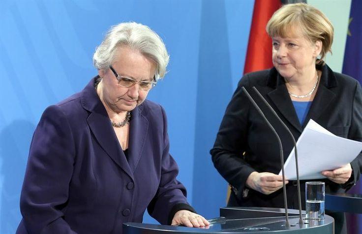 Dimite la ministra alemana acusada de plagio