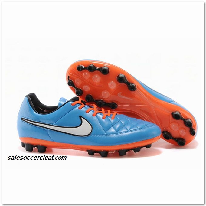 Nike Tiempo Legacy V AG 2014 Colorways Treasure Blue Orange $60.00