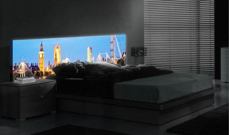 LED-Hinterleuchtetes Kopfteil LONDON. Dekoration Beltrán, Ihr Online-Shop für innovative Backlight Kopfteile für Betten.