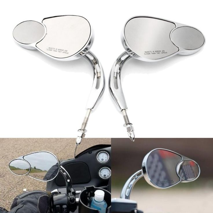 Motorcycle Rear View Mirrors For Harley Touring Road King Classic Softail Deluxe #bikemirrors #harleymirrors