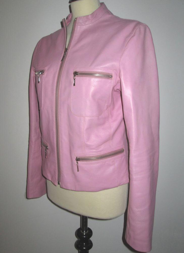 Mia Lederjacke Altrosa Gr 40 Ebay Lederjacke Jacken Mode