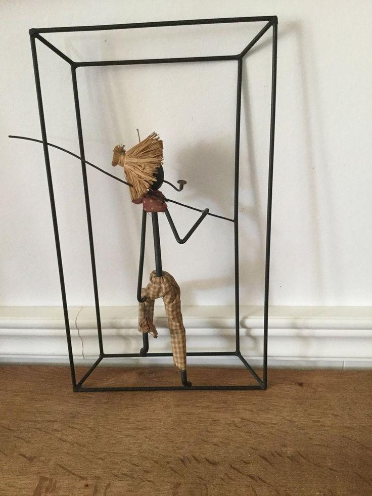 String figur, Bo Bonfils, Skøn retro væg ophæng string , Bo Bror Bonfils. B 20 H 40 god brugt stand. String figur
